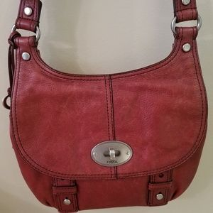 Fossil Leather Cross-body Bag